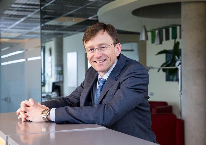 """Algirdas Šabūnas, koncerno SBA valdybos narys, viceprezidentas ir AB """"Utenos trikotažas"""" vadovas. Juditos Grigelytės (VŽ) nuotr."""