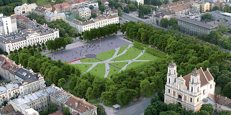 Lukiškių aikštės žaliosios zonos Gyvybės medis. Projekto vizualizacija / sa.lt nuotr.