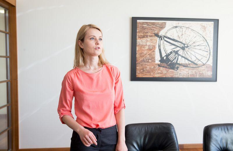 """""""Hanner"""" atstovė ryšiams su visuomene Renata Dantė. Juditos Grigelytės (VŽ) nuotr."""