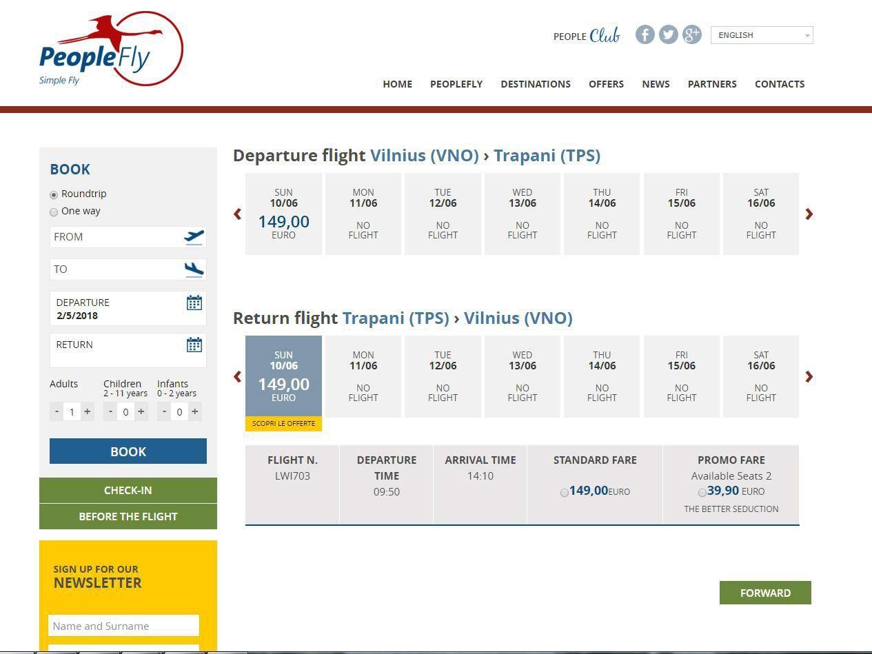 """Įspėja dėl neteisėtos skrydžių bilietų pardavėjos """"PeopleFly"""" veiklos"""
