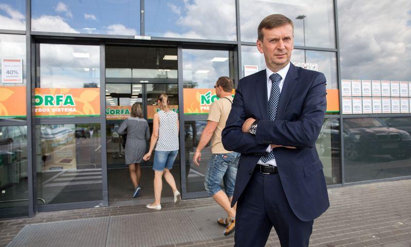 """Dainius Dundulis, UAB """"Rivona"""" generalinis direktorius ir """"Norfos"""" prekybos tinklą valdančios UAB """"Norfos mažmena"""" valdybos pirmininkas. Juditos Grigelytės (VŽ) nuotr."""