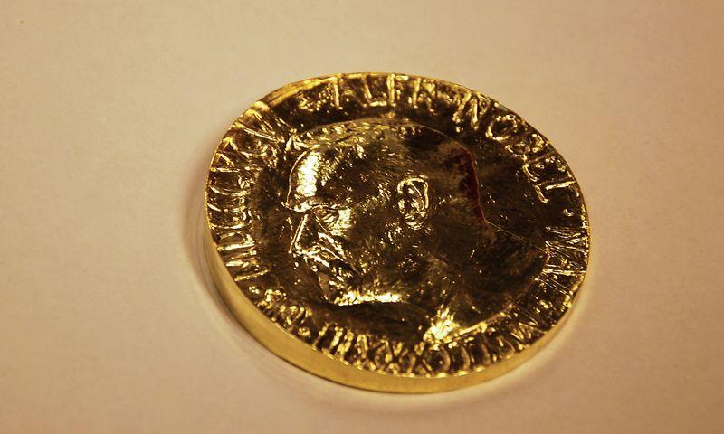 Nukaldintas Nobelio premijos medalis. Beatričės Laurinavičienės (VŽ) nuotr.