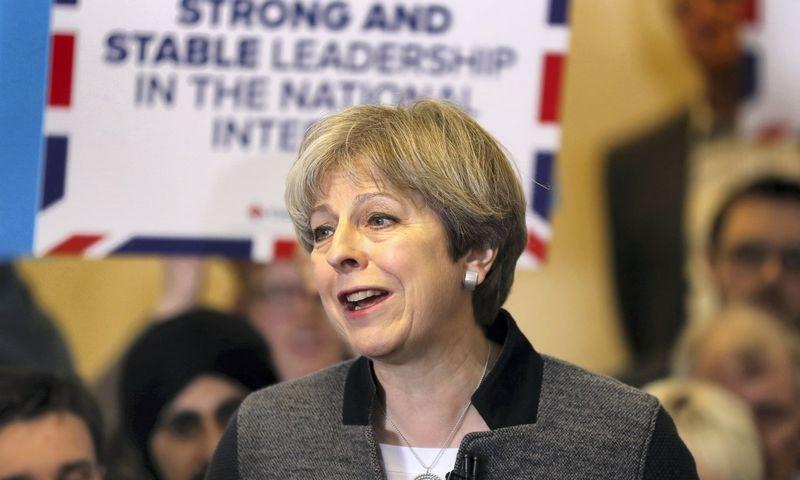 """Theresa May, Jungtinės Karalystės ministrė pirmininkė. Chriso Radburno (""""Reuters"""" / """"Scanpix"""") nuotr."""