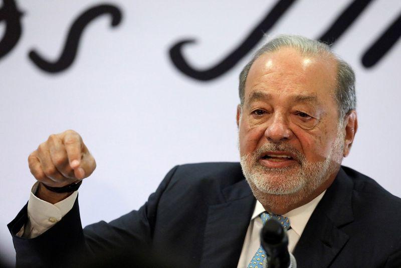 """Carlosas Slimas, Meksikos milijardierius, """"Amercia Movil"""" savininkas. Henry Romero (""""Reuters"""" / """"Scanpix"""") nuotr."""