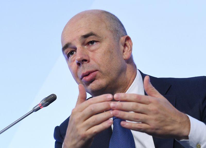 """Rusijos finansų ministras Antonas Siluanovas. Grigorijaus Sisoevo (""""Sputnik"""" / """"Scanpix"""") nuotr."""