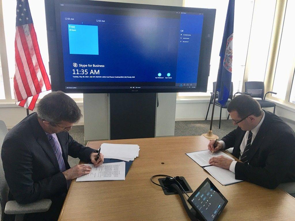 """Lietuva pasirašė Vyriausybės saugumo programos sutartį su """"Microsoft Corporation"""""""