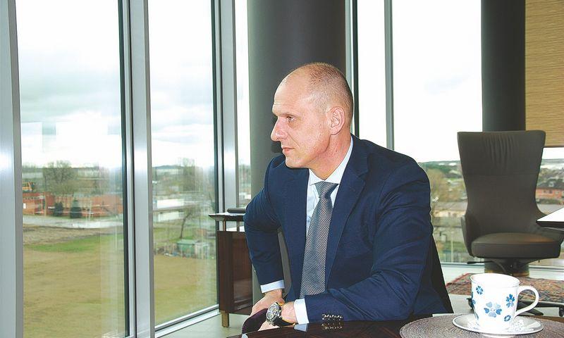 Vidmantas Dambrauskas, UAB Birių krovinių terminalo vadovas. Mildos Ancevičės nuotr.