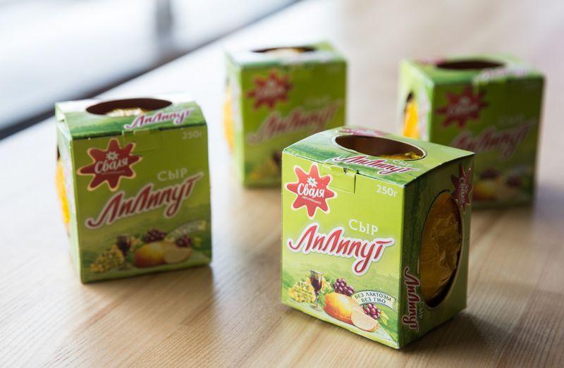 """AB """"Pieno žvaigždės"""" gaminamas sūris """"Liliputas"""" skirtas eksportui į Rusiją.Juditos Grigelytės (VŽ) nuotr."""