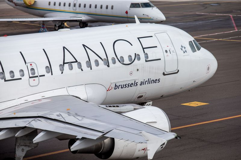 """Gegužės 14 ir 16 dienomis """"Brussels Airlines"""" darbuotojai skelbia streikus. Juditos Grigelytės (VŽ) nuotr."""