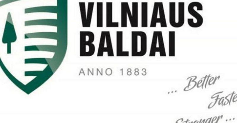 """Vilniaus baldų"" logotipas."