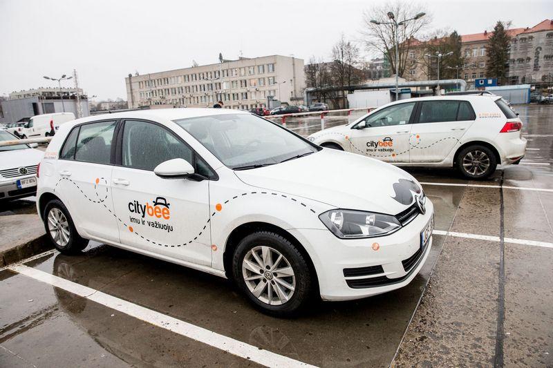 """Citybee"" automobiliai Vilniuje. Juditos Grigelytės (VŽ) nuotr."