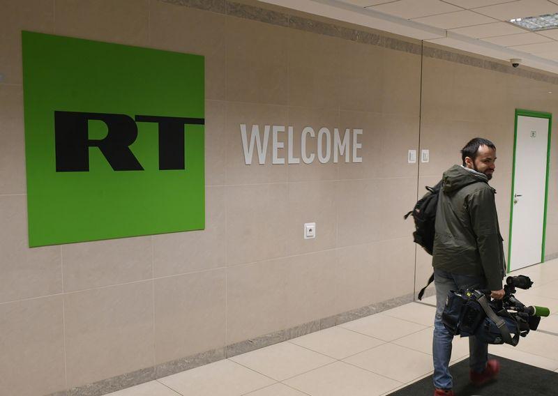 """Russia Today"" biuras. Ilijo Pitalevo (""Reuters"" /""Scanpix"") nuotr."