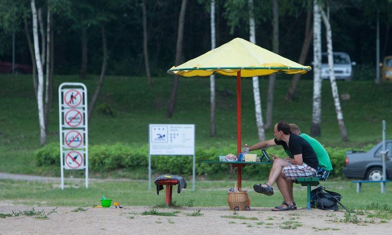 Vaizdas iš Vilniaus paplūdimių šiemet bus realiu transliuojamas interneto kameromis. Juditos Grigelytės (VŽ) nuotr.