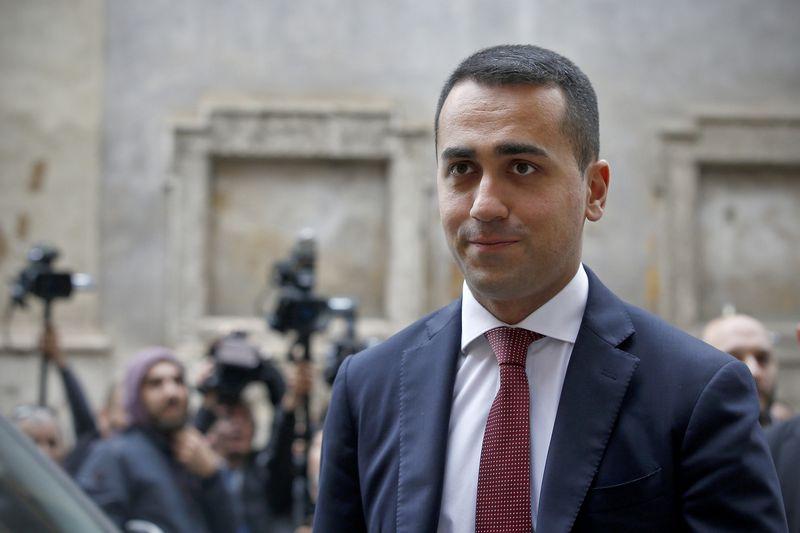 """""""Penkių žvaigždžių"""" lyderis Luigi Di Maio (""""Reuters"""" / """"Scanpix"""") nuotr."""