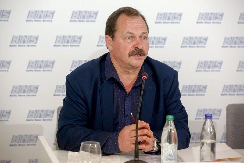 LŠDPS pirmininko pavaduotojas Vytautas Silvanavičius. Vidmanto Balkūno (15min.lt) nuotr.