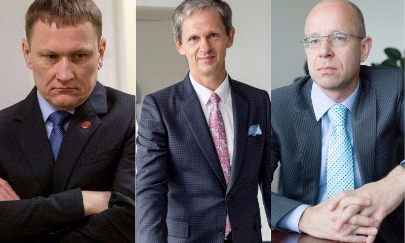 VP grupės akcininkai. Iš kairės: Mindaugas Marcinkevičius, Nerijus Numavičius, Ignas Staškevičius. VŽ montažas.