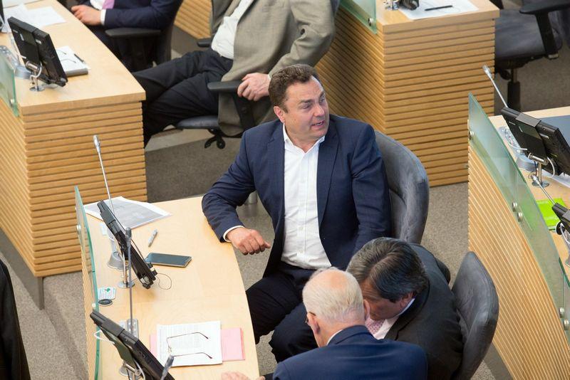 Petras Gražulis Seimo posėdyje. Juditos Grigelytės (VŽ) nuotr.