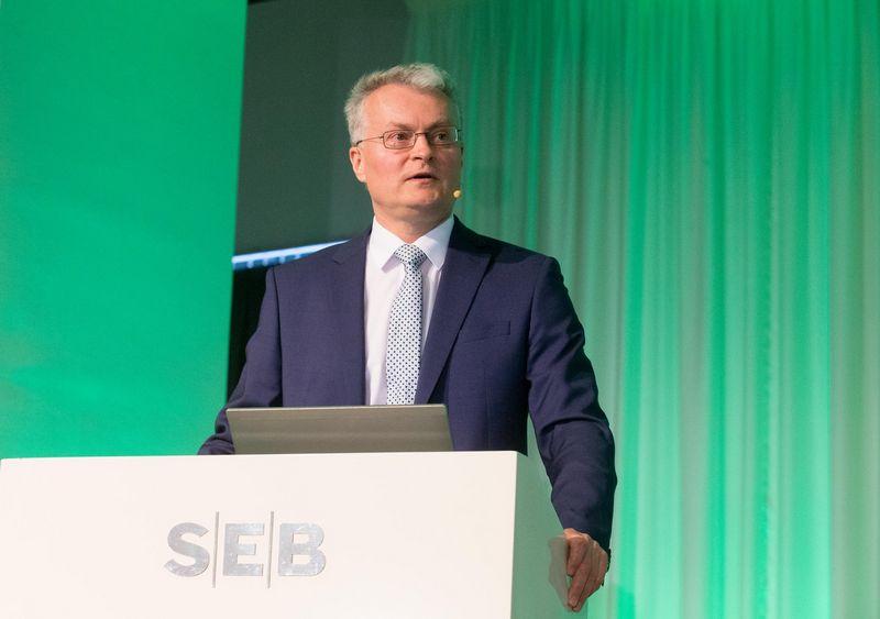 SEB banko prezidento patarėjas Gitanas Nausėda. Juditos Grigelytės (VŽ) nuotr.