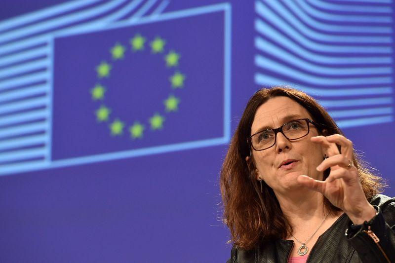 """Cecilia Malmstrom, už prekybą atsakingą Europos Komisijos narė. Erico Vidalio (""""Reuters"""" / """"Scanpix"""") nuotr."""