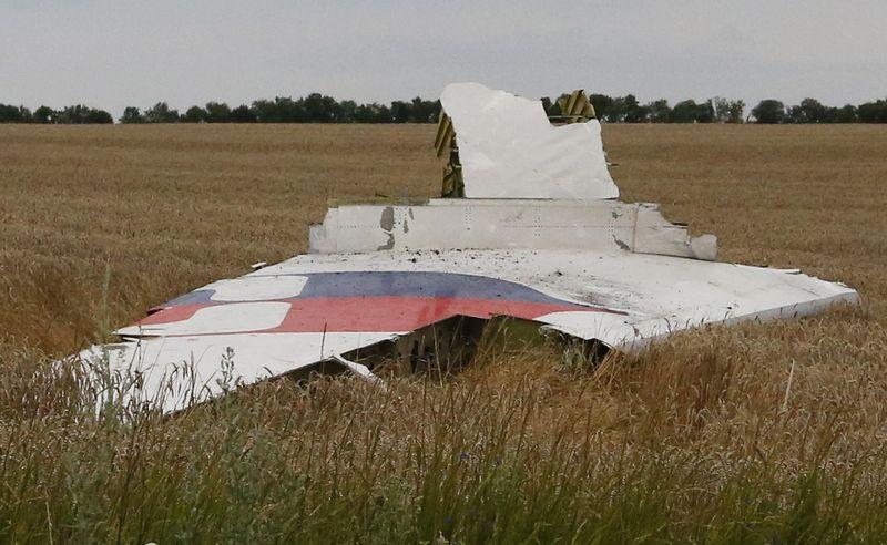 """""""Malaysia Airlines"""" MH17  keleivinio lėktuvo nuolauža. Maksimo Zmeijevo (""""Reuters"""" / """"Scanpix"""") nuotr."""