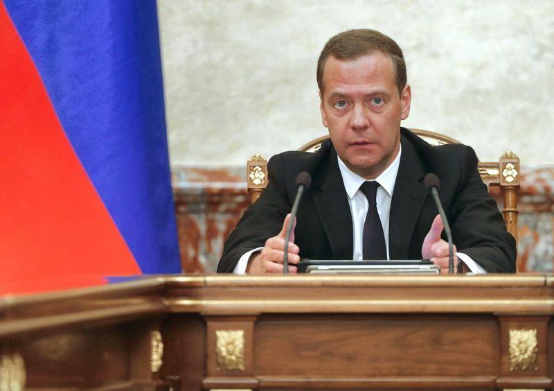 """Dmitrijus Medvedevas, Rusijos vyriausybės vadovas. Dmitrijaus Astakhovo (""""Sputnik"""" / """"Scanpix?"""") nuotr."""