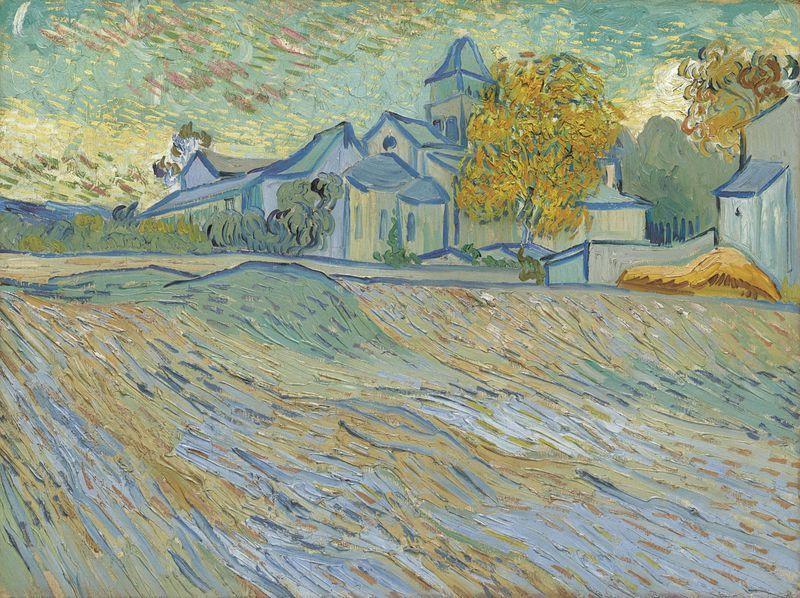 """Vincentas van Goghas """"Vue de L'Asile et de la Chapelle Saint-Paul de Mausole"""",  1889 m. """"Christie's"""" nuotr."""