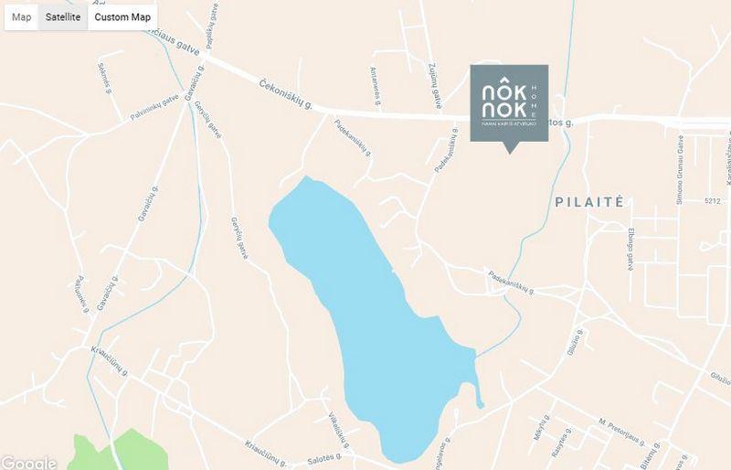 """Projekto vieta mieste. """"Google Maps"""" atvaizdas."""