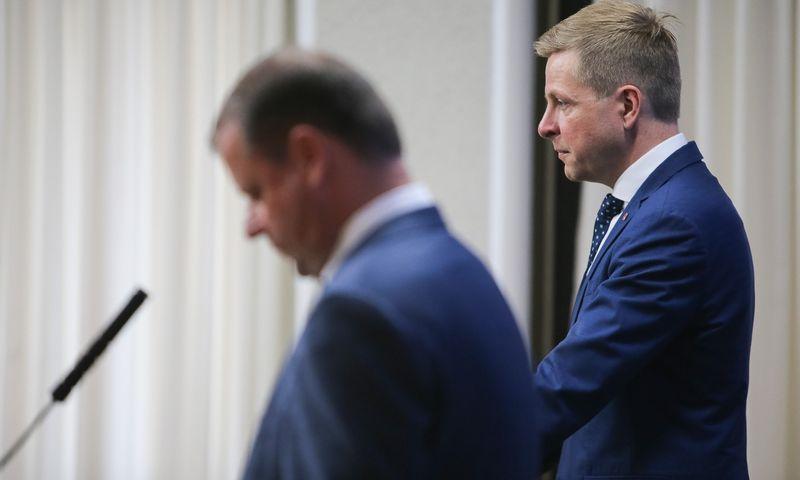 Vilniaus miesto meras Remigijus Šimašius, premjeras Saulius Skvernelis. Vladimiro Ivanovo (VŽ) nuotr.