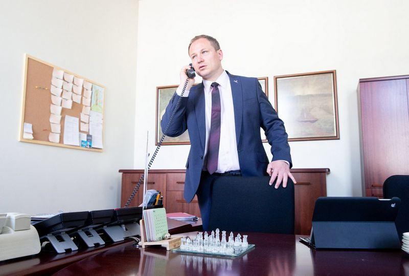 Paskirtasis žemės ūkio ministras Giedrius Surplys. Juditos Grigelytės (VŽ) nuotr.
