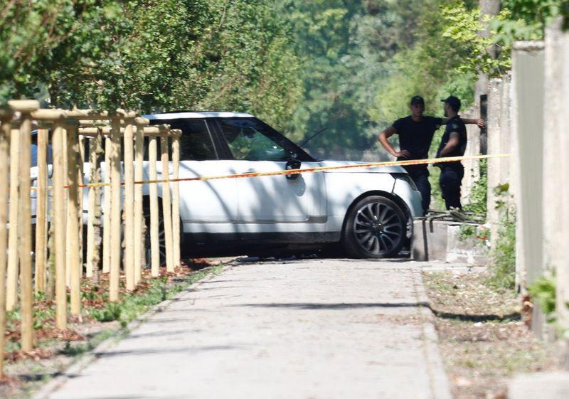 Nusikaltimo vieta Rygoje. Into Kalninio (Reuters / Scanpix) nuotr.