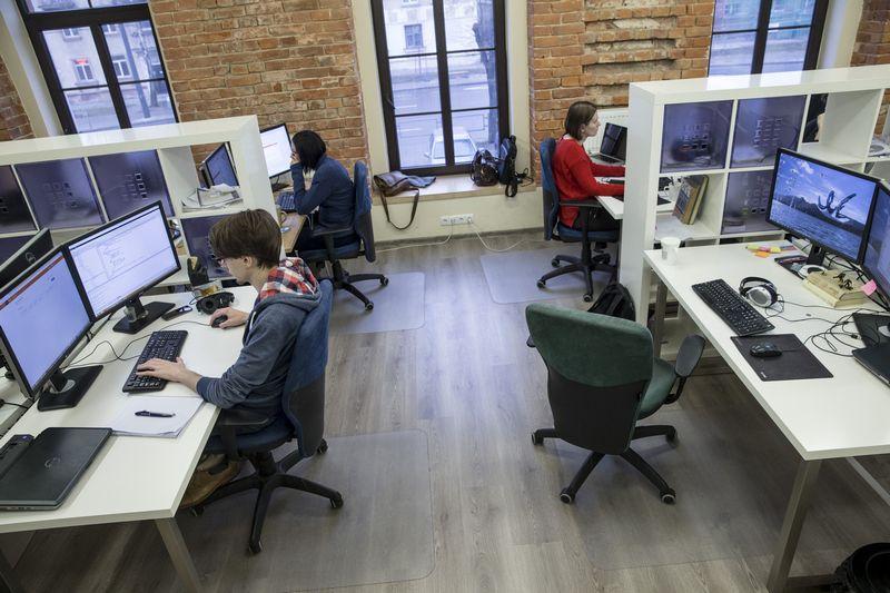 """Kitos JAV programavimo paslaugų įmonės """"Devbridge Group"""" biuras Kaune.Vladimiro Ivanovo (VŽ) nuotr."""