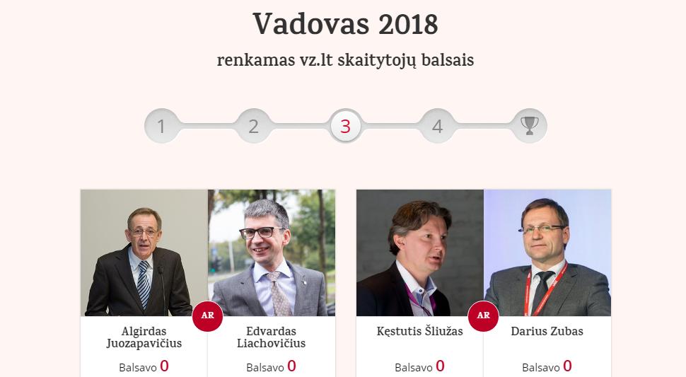 """VŽ skaitytojai renka """"Metų vadovą"""": liko keturi kandidatai"""