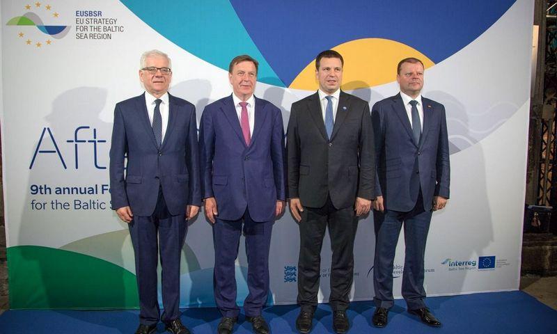 Trijų Baltijos premjerų ir Lenkijos užsienio reikalų ministro susitikimas Taline. Dariaus Jaručio (LRVK) nuotr.