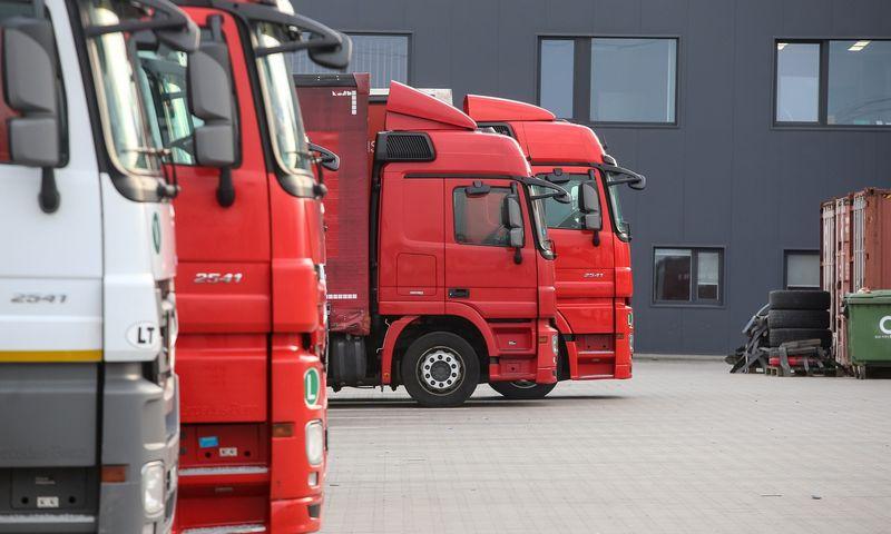 """""""TimoCom"""" duomenimis, sunkvežimių transporto pasiūla Europoje pirmą kartą neatitiko rinkos poreikio. Vladimiro Ivanovo (VŽ) nuotr."""