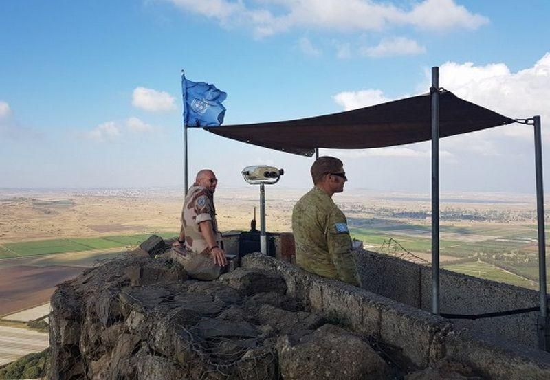 Jungtinių Tautų taikdariai Golano aukštumose. Vaidoto Beniušio (BNS) nuotr.
