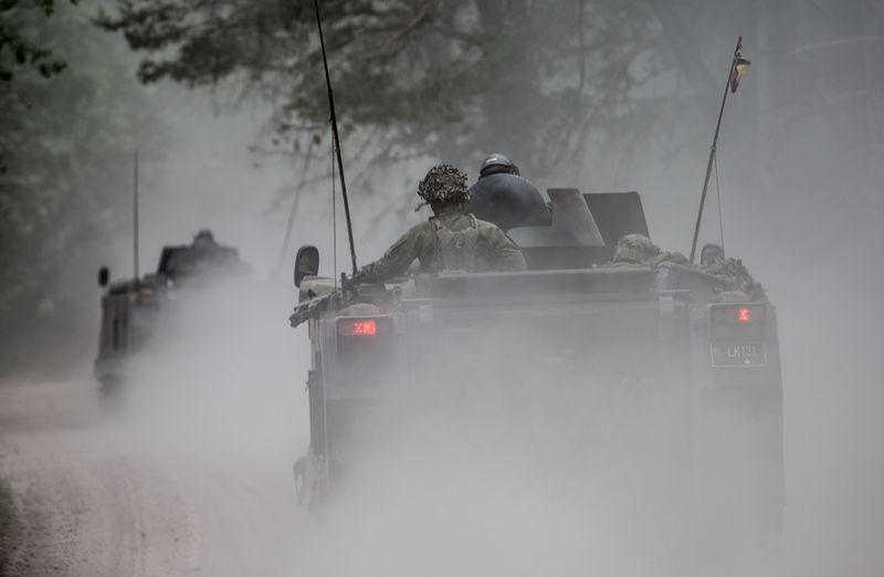 Aštuonias birželio dienas per Lietuvą keliaus dideli NATO karinių pajėgų konvojai. Vladimiro Ivanovo (VŽ) nuotr.