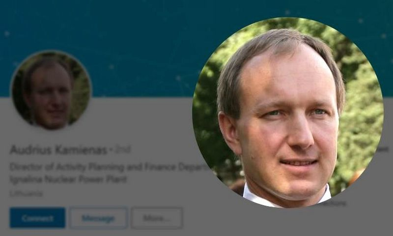 Audriaus Kamieno profilis socialiniame tinkle Linkedin.