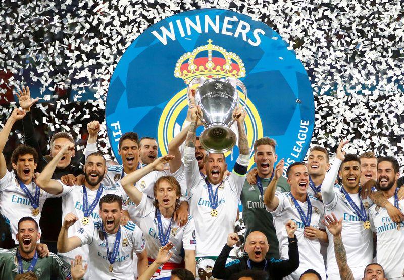 """Čempionų lygoje šiemet triumfavęs Madrido """"Real"""" klubas apie 43 mln. GBP gaus vien dėl pasikeitusių UEFA lėšų skirstymo taisyklių. """"Reuters"""" / """"Scanpix"""" nuotr."""