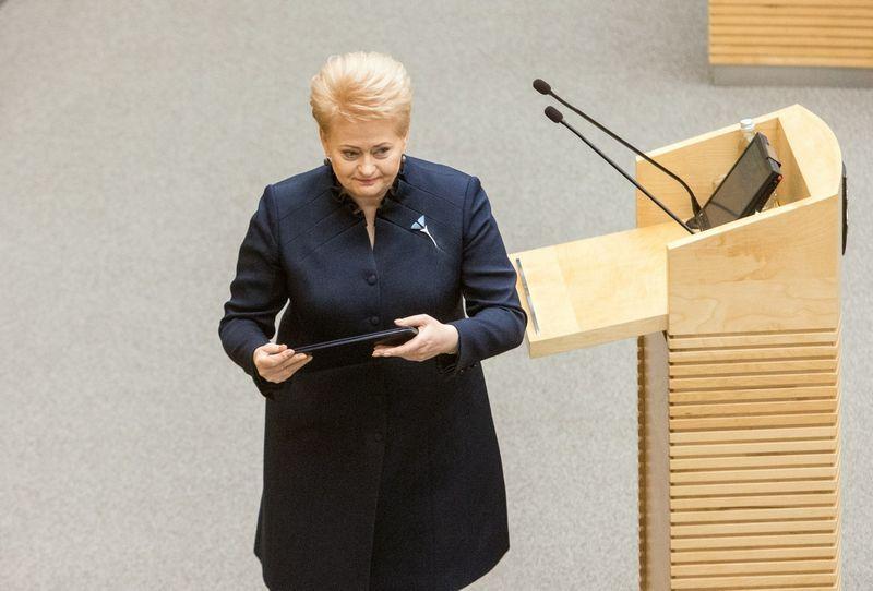 Prezidentė Dalia Grybauskaitė pateikė Seimui raifikuoti Stambulo konvenciją dėl smurto artimoje aplinkoje prevencijos. Juditos Grigelytės (VŽ) nuotr.