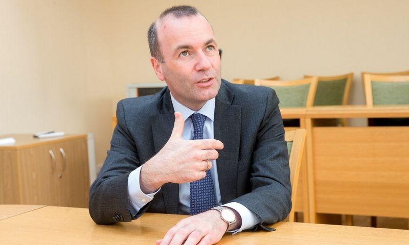 Manfredas Weberis, Europos Parlamento Liaudies frakcijos vadovas. Juditos Grigelytės (VŽ) nuotr.