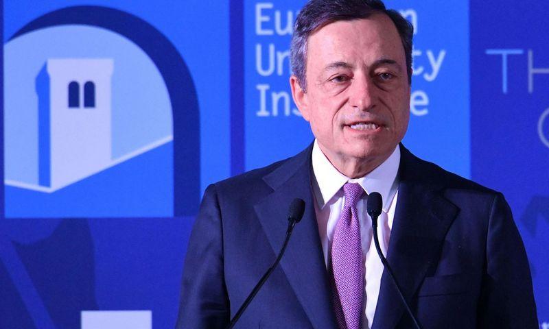 """ECB vadovas Mario Draghi. Aleandro Biagianti (""""Reuters"""" / """"Scanpix"""") nuotr."""