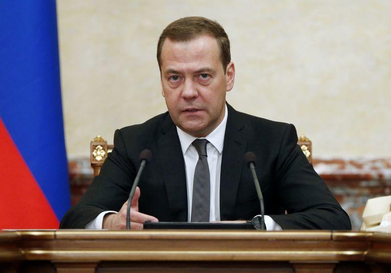 """Rusijos premjeras Dmitrijus Medvedevas. Dmitrijaus Astakhovo """"Sputnik"""" / """"Scanpix"""") nuotr."""