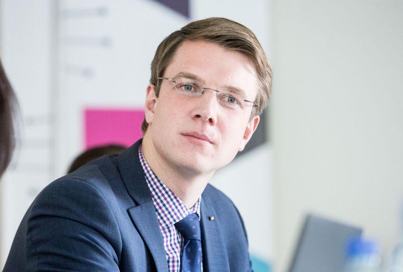 """Paulius Vertelka, informacinių ryšių ir technologijų bendrovių asociacijos """"Infobalt"""" direktorius. Juditos Grigelytės (VŽ) nuotr."""
