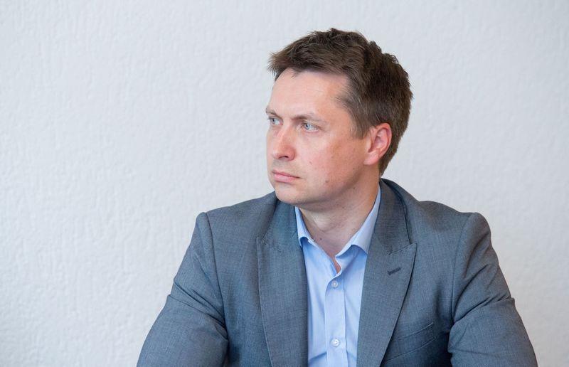 Konkurencijos tarybos pirmininko pavaduotojas Elonas Šatas. Juditos Grigelytės (VŽ) nuotr.