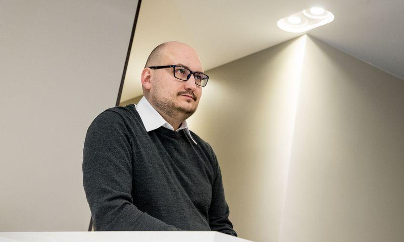 """Rokas Tamošiūnas, rizikos kapitalo fondo """"Open Circle Capital"""" partneris. Juditos Grigelytės (VŽ) nuotr."""