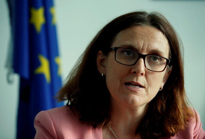 """Cecilia Malmstrom, už prekybą atsakinga Europos Komisijos narė. Deniso Balibouse (""""Reuters"""" / """"Scanpix"""")  nuotr."""