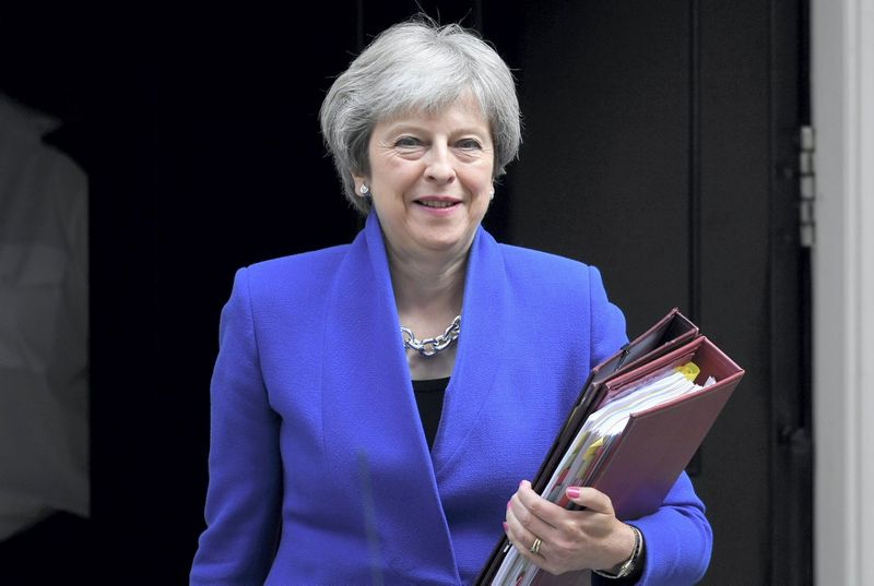 Theresa May, JK ministrė pirmininkė. Toby Melville (Reuters / Scanpix) nuotr.