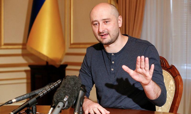 "Arkadijus Babčenko. Valentyno Ogirenko (""Reuters"" / ""Scanpix"") nuotr."