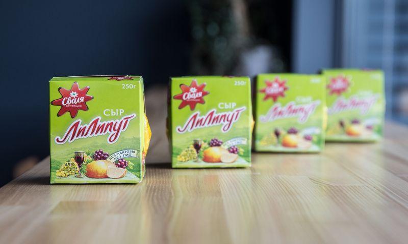 """Rusijos rinkai skirtas sūris """"Liliputas"""". Juditos Grigelytės (VŽ) nuotr."""