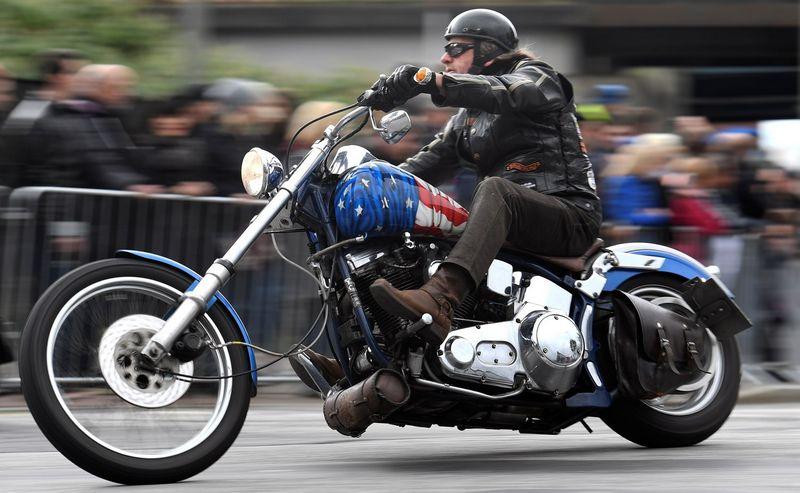 """Harley-Davidson"" motociklas. Fabiano Bimmerio (Reuters / Scanpix) nuotr."